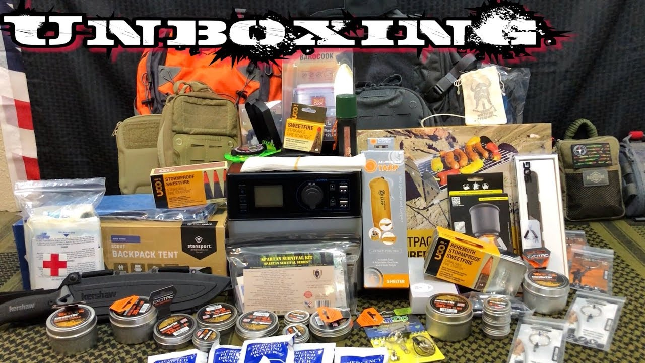 massive-unboxing-epic-backpacking-edc-camping-survival-gear