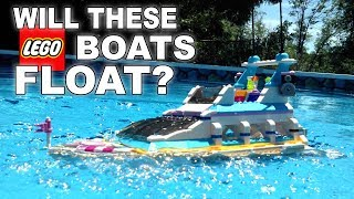 DO THESE LEGO BOATS FLOAT? #2