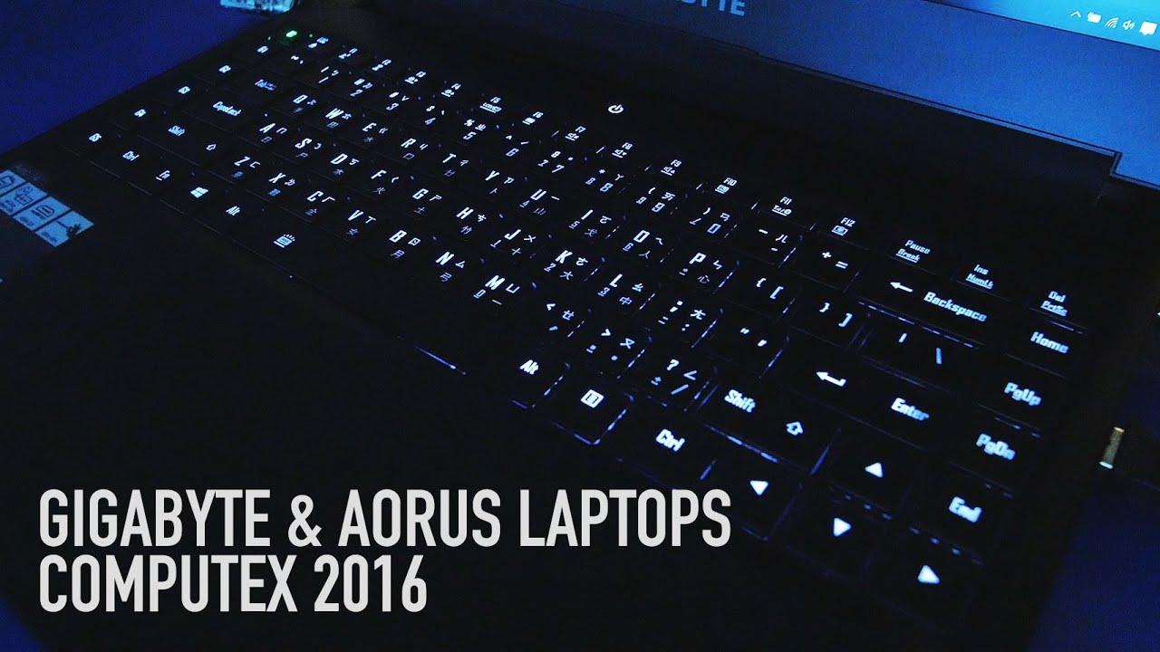 Gigabyte & Aorus Laptops | Computex 2016