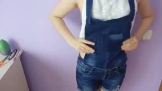 як зробити застібки на джинсовому комбінезоні