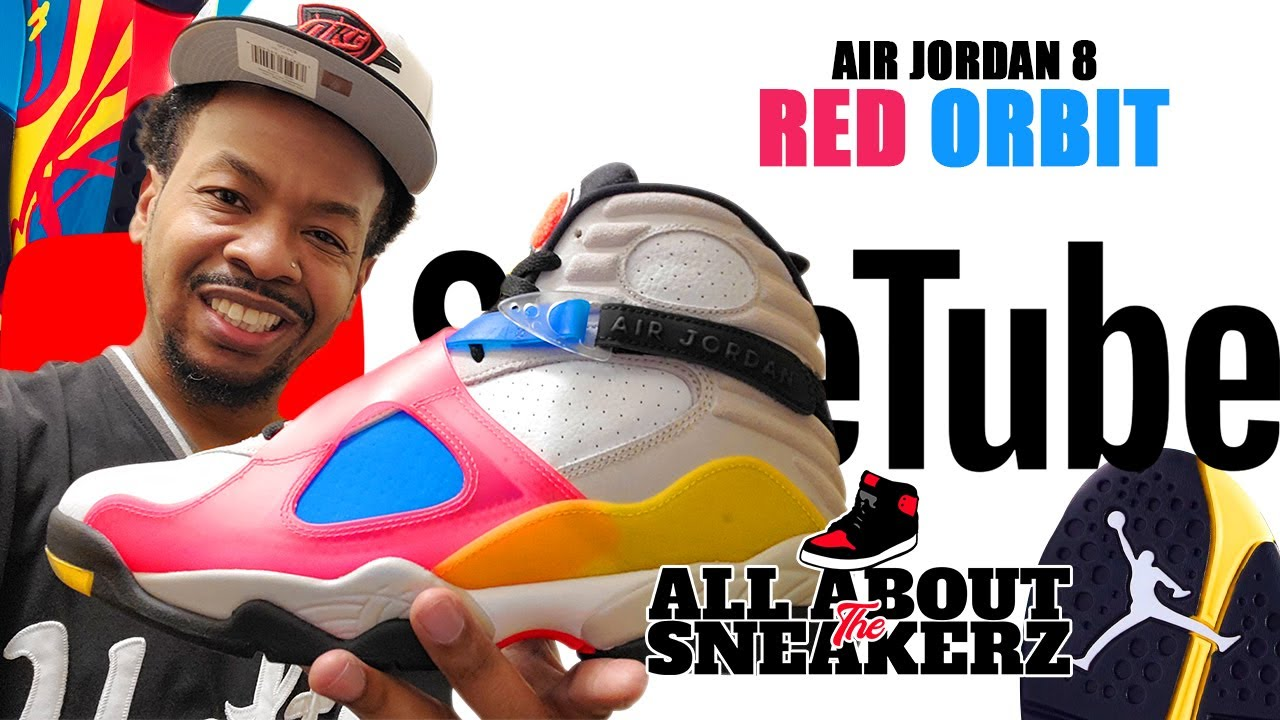 Air Jordan 8 Red Orbit Unboxing Review Video Youtube