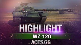 Фишка в пушке.WZ-120 в World of Tanks!