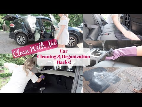 CLEAN WITH ME: CAR CLEANING HACKS & ORGANIZING TIPS: KONMARI METHOD DECLUTTER
