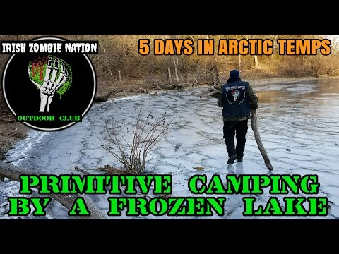 5 Days Primitive Camping by a Frozen Lake in Arctic Temperatures (Winter Hammock Backpacking)