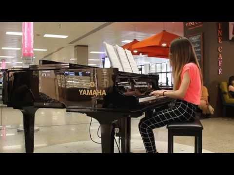 Playing the Piano at Malta International Airport