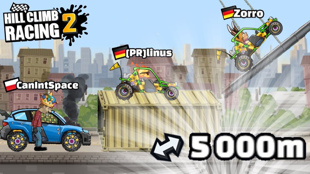 FIRST EVER 5000m IN INTENSE CITY - NEW STRATEGY - Hill Climb Racing 2