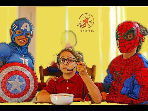 Thumbnail: Little Superheroes 4 - Superhero Training Video With Spiderman, Supergirl and Captain America