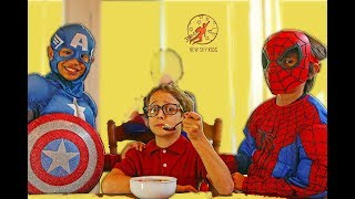 Little Superheroes 4 - Superhero Training Video With Spiderman, Supergirl and Captain America