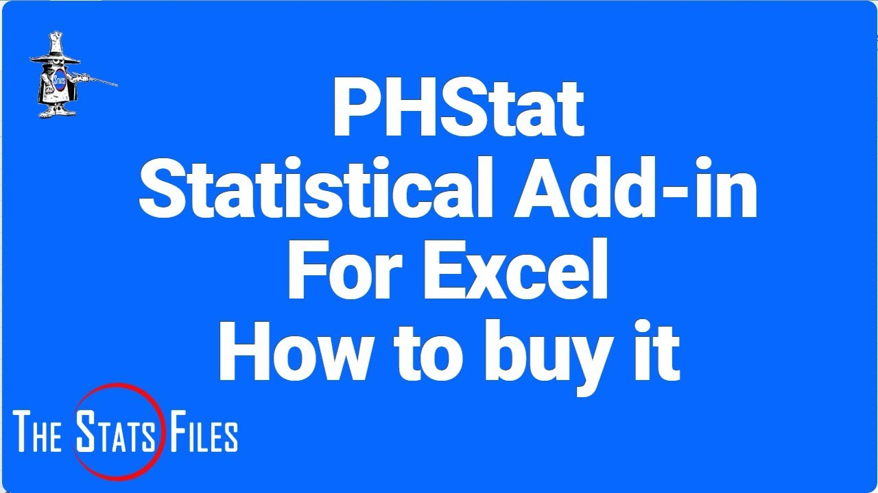 How to buy PHStat - a Statistical Add in for Excel For PC & Mac