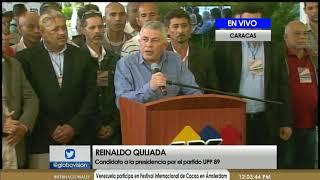 Reinaldo Quijada presentó su candidatura a la Presidencia por el partido UPP89