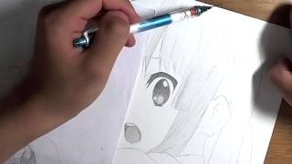 「けいおん」から「秋山 澪」を描いてみた 秋山澪 動画 16
