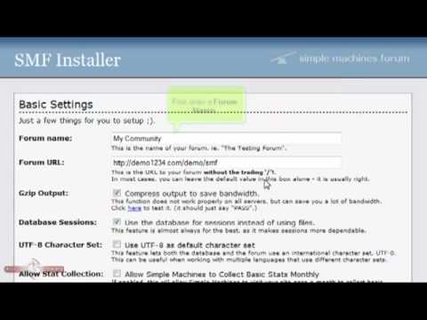 How to download and install SMF - SMF Tutorials