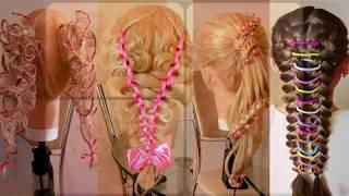 Детские причёски на выпускной из детсада или начальной школы  Подробные видео уроки  Hair tutorial