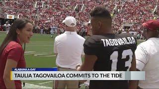 Taulia Tagovailoa Commits To The Tide; Brother Tua Reacts As CBS 42 Simone Eli Breaks The News
