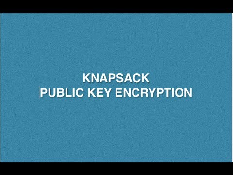 Knapsack Problem In Cryptography | Knapsack Public Key Encyption