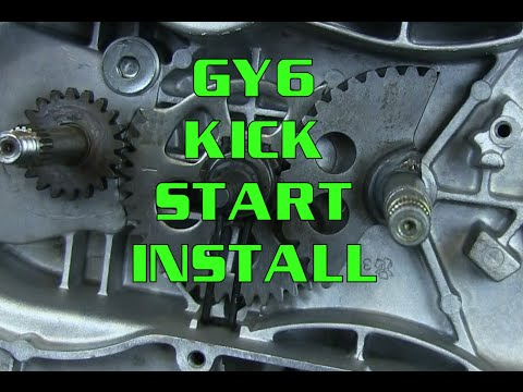 moped kick starter schematic how to gy6 125 150 kick start gear installation  scooter  kart  how to gy6 125 150 kick start gear
