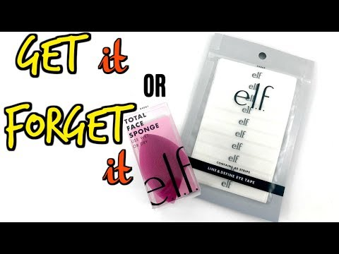 ELF Line And Define Eye Tape & Sculpting And Blending Sponge |  Review | First Impressions |