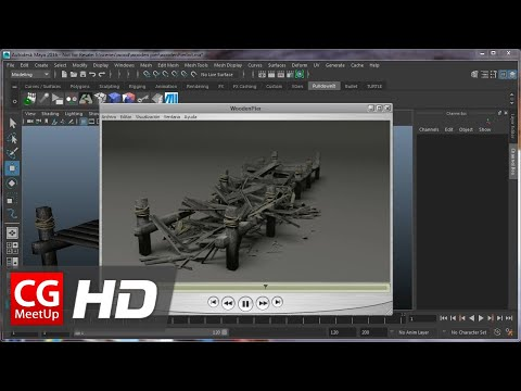 "CGI 3D Tutorial HD: ""Maya Tutorial Destroying a wooden pier with Pulldownit"" by Esteban Cuesta"