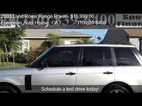 2003 Land Rover Range Rover HSE 4WD 4dr SUV for sale in Los