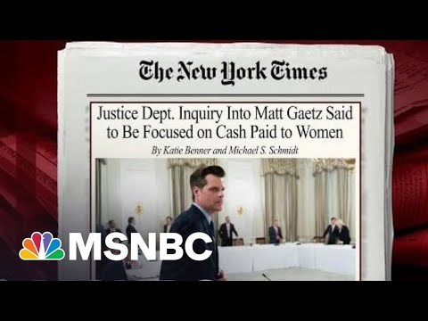 DOJ Inquiry Into Rep. Gaetz Said To Be Focused On Cash Paid To Women | Morning Joe | MSNBC
