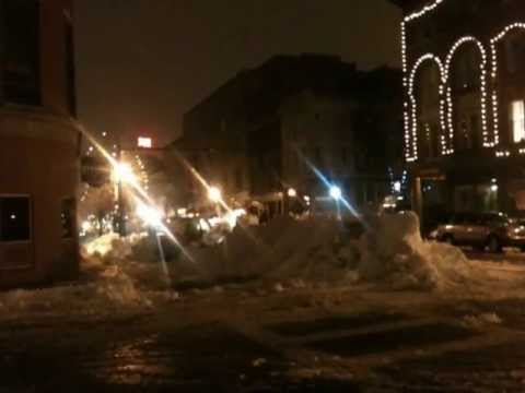 Intense snow removal in downtown Lowell after Nemo - #3