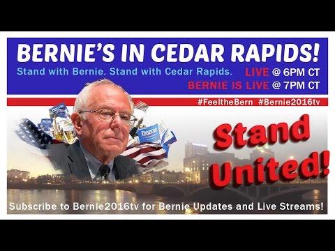 Live from Cedar Rapids, Iowa town Meeting with Bernie Sanders