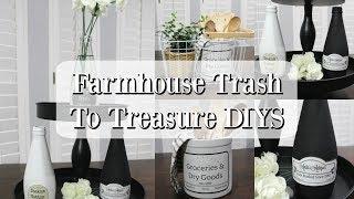 FARMHOUSE TRASH TO TREASURE DIYS | FARMHOUSE DECORATING IDEAS
