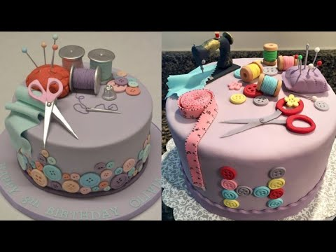 Download Sewing Theme Cake | Sewing Machine Cake By Seller FactG #shorts