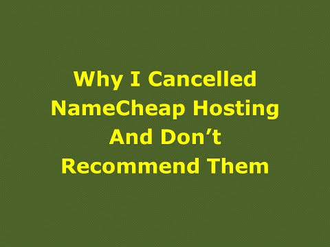 Why I Cancelled NameCheap Hosting And Don't Recommend Them - Website Hosting Review