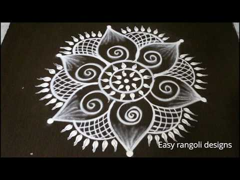 latest easy free hand rangoli designs * simple kolam with out dots * muggulu designs * rangavalli