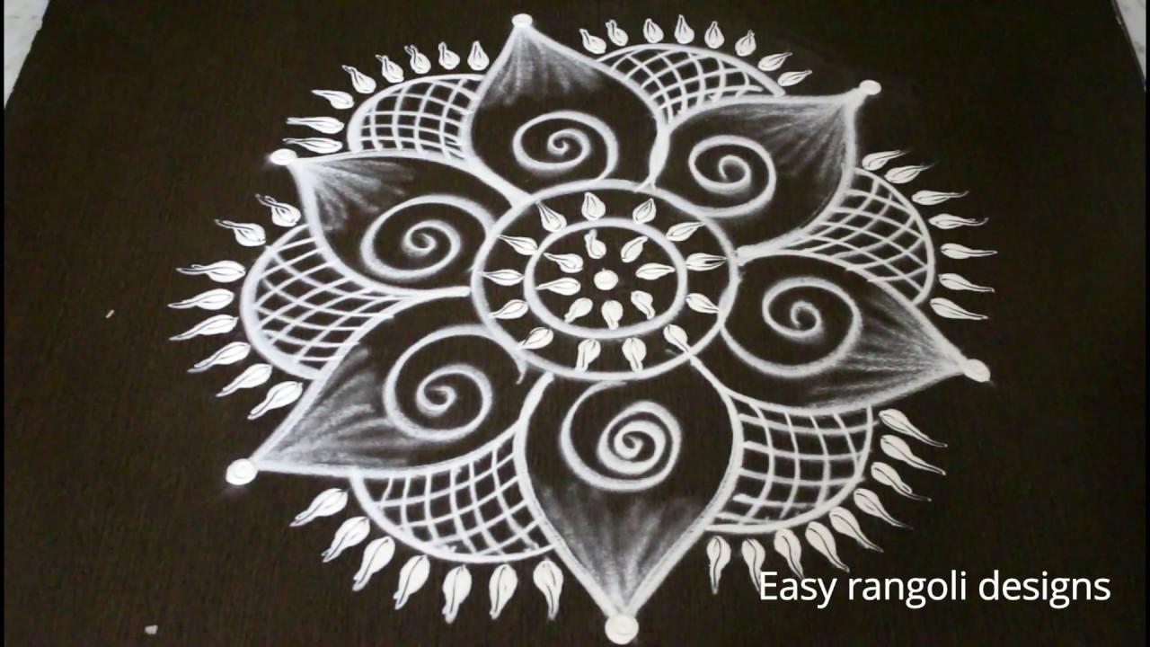latest easy free hand rangoli designs * simple kolam with ...