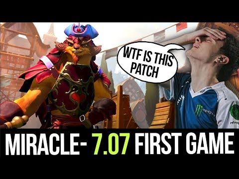 Miracle- 7.07 First Game - New Puck with LVL 25 Rapid Fire Talent + Mjollnir
