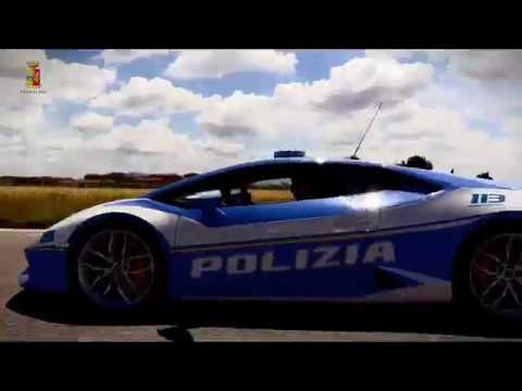 Polizia di stato prova nuova lamborghini youtube for Prova dello specchio polizia youtube