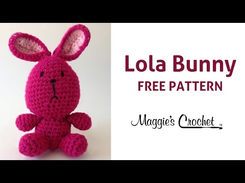 Lola The Bunny Free Crochet Pattern - Right Handed