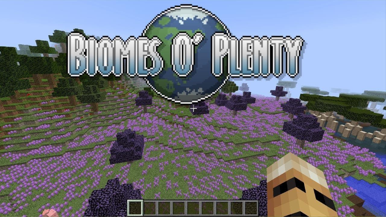 Minecraft Biomes O'Plenty Mod Showcase (Minecraft 1.12.2) - YouTube