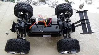 NQD Land Buster 4WD unboxing first run on snow close view