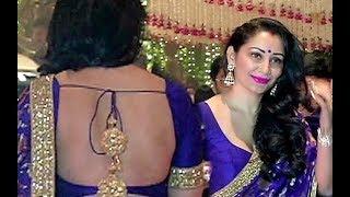 Sunjay Dutt wife Manyata Dutt in Green Colour Backless Blouse
