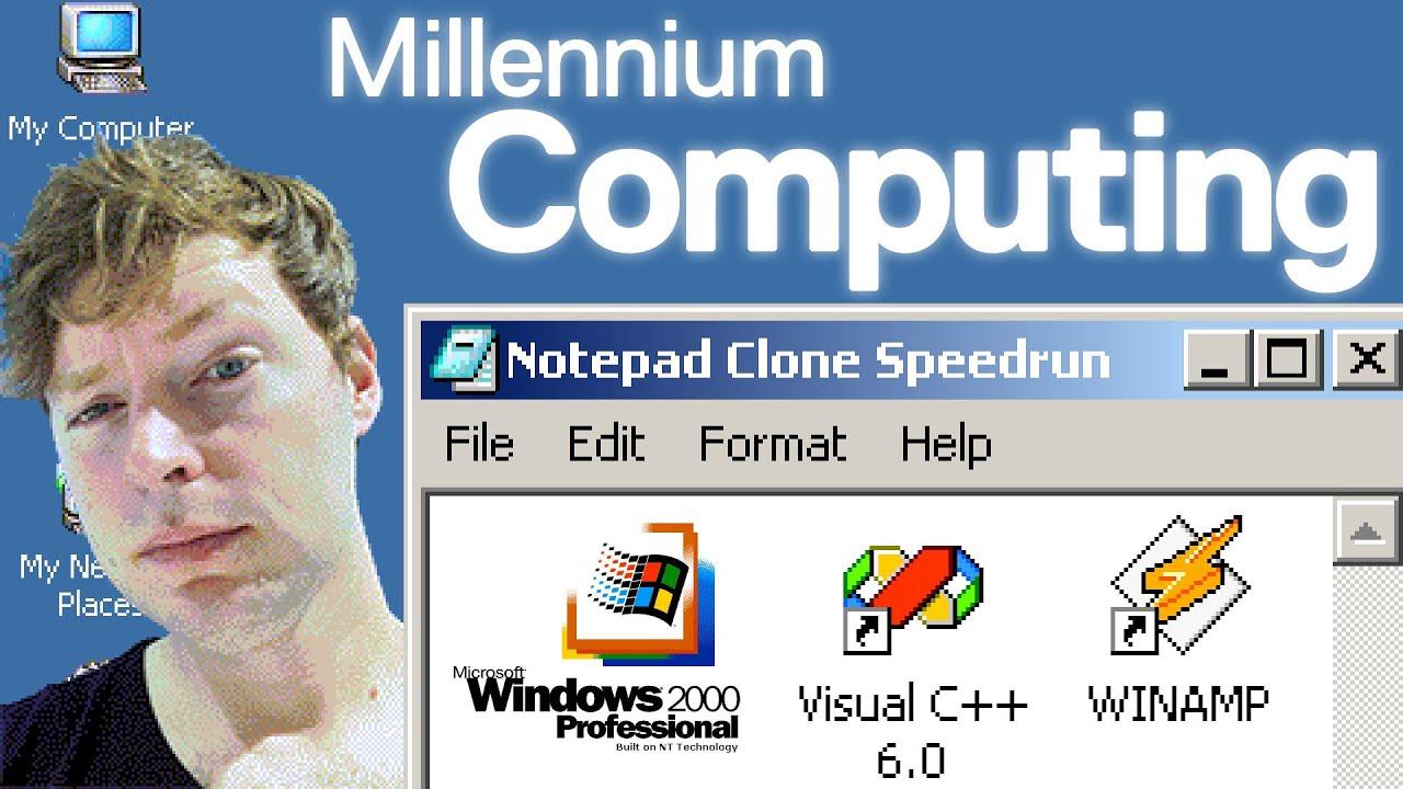 How to Make Notepad on Windows 2000 (C Programming Speedrun