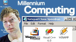 How to Make Notepad on Windows 2000 (C Programming Speedrun) - Millennium Computing - rogerclark