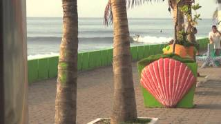 Epic Long board surfing El Salvador Punta Roca and La Paz