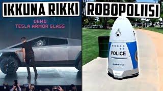 Teslan nolo moka uuden auton esittelyssä! Robottipoliisit Yhdysvalloissa?