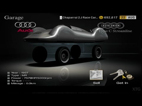 Gran Turismo 4 - Audi Auto Union & 5 More Cars Wheels Revealed PS2 Gameplay HD