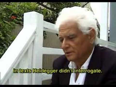 "Derrida: ""What Comes Before The Question?"""