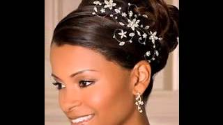 Great African american wedding updo hairstyles ideas
