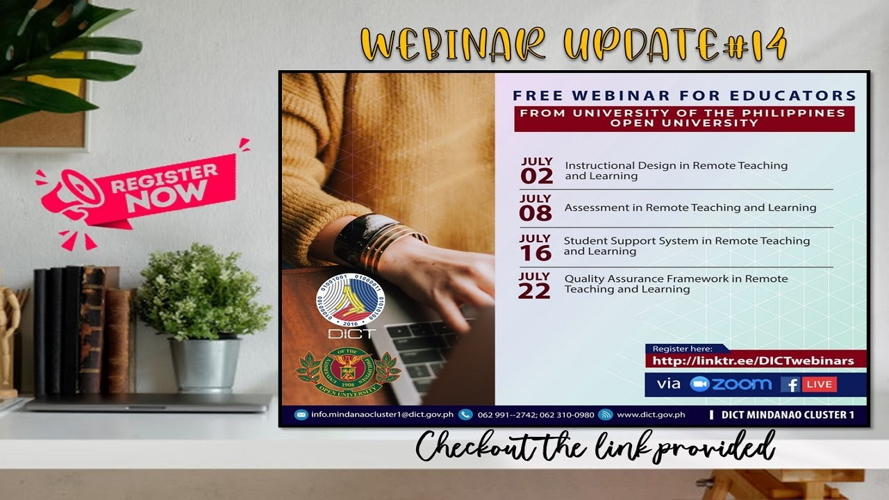 Dict And Up Open University Free Webinar With Certificate Youtube