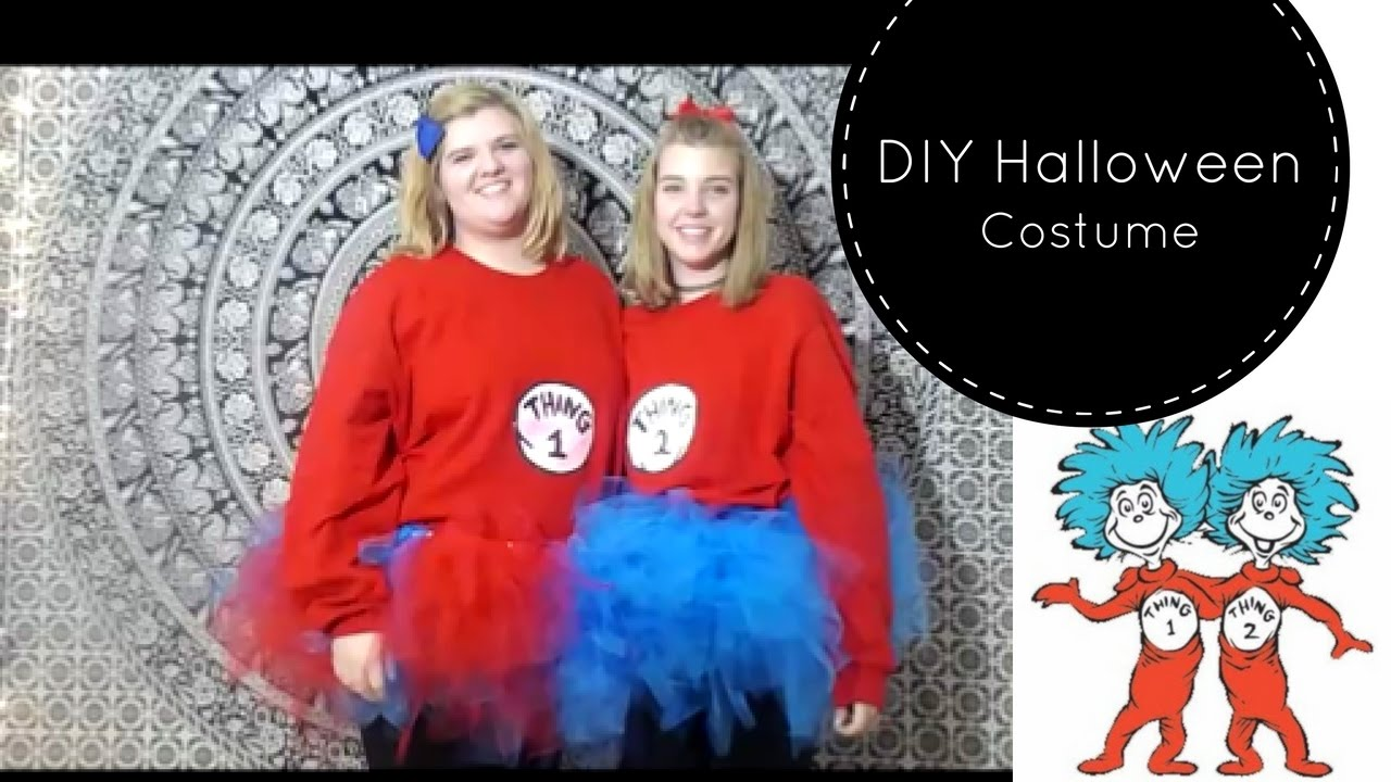 DIY Thing 1 and 2 Halloween Costumes - YouTube 28b0a8c59414