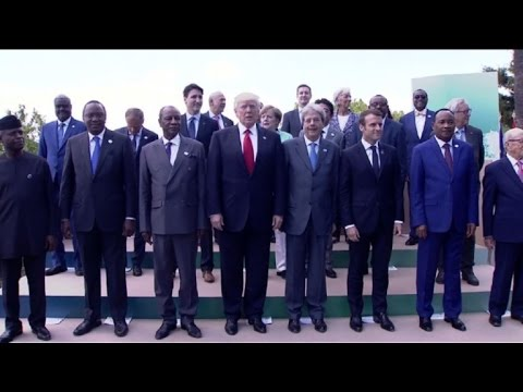 African leaders join G7 for family photo in Sicily