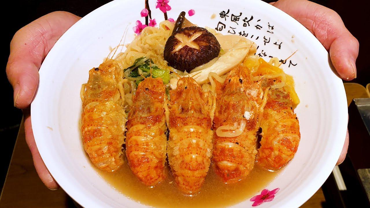 국물이 끝내주는 해물라면, 고소한 곰새우 라면, 곰새우 찜,  Delicious Seafood ramen, Browm Shrimp Ramen, Korean street food