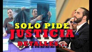 SALVADOREÑO PIDE JUSTICIA al presidente y ministra de salud