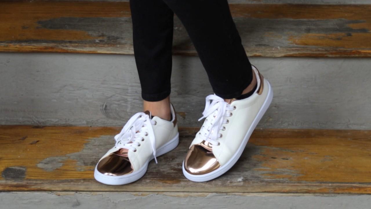 rose tennis shoes